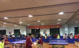 2017年南京市少年儿童乒乓球比赛在市体校成功举行